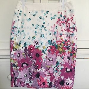 Ann Taylor Spring Flower Pencil Skirt